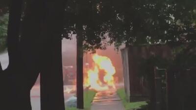 Reportan fuga de gas en una calle de Houston