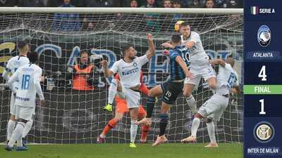 ¡Descalabro nerazzurro! Inter es goleado por el Atalanta