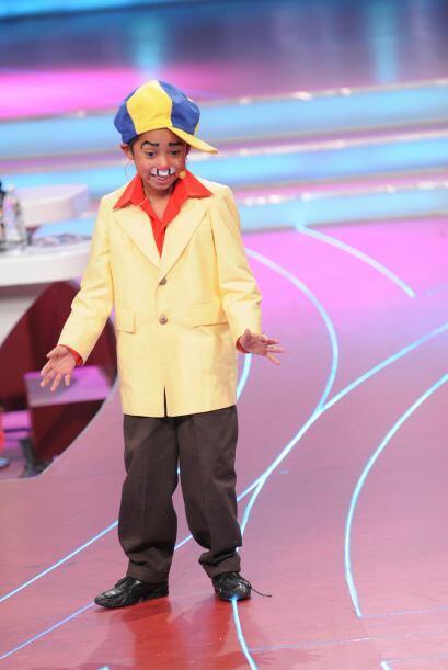 En la comedia el pequeño Resortitos sacó carcajadaas al público con sus...