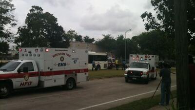 Choque de ocho autos en Houston