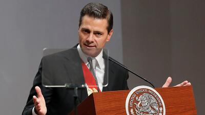 """""""No recuperamos la paz y la seguridad"""": Peña Nieto en la entrega de su mensaje por su último informe"""