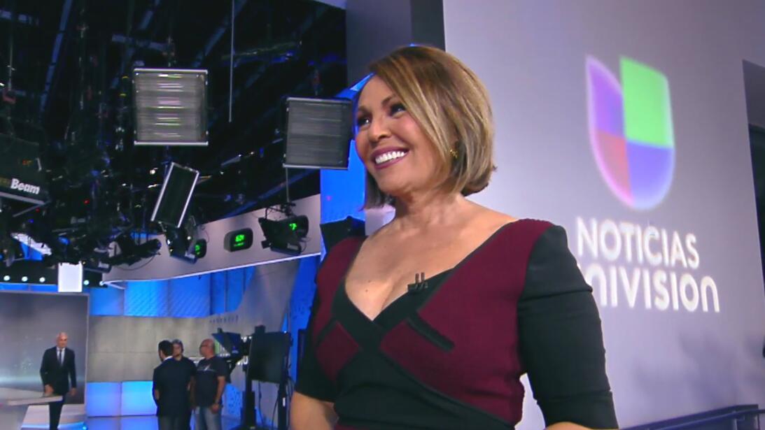 Maria Elena after her last broadcast, Friday Dec 8, 2017