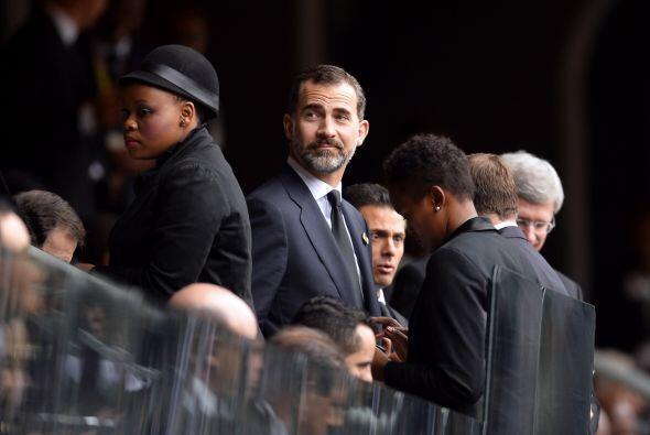 El príncipe Felipe de España llegó a la ceremonia conmemorativa en Sudáf...