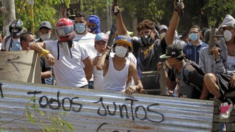 Los estudiantes han estado al frente de las protestas en Nicaragua contr...