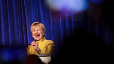 Hillary Clinton en un evento en Nueva York el mes pasado.