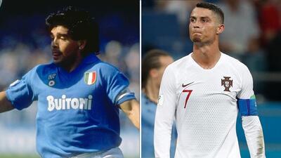 Compararon a Cristiano Ronaldo con Maradona en el fútbol italiano