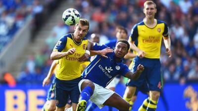 Los 'Gunners' sólo sacaron un punto del campo del Leicester.