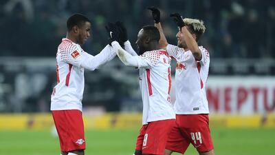 Leipzig sorprende de 'último minuto' al Monchengladbach