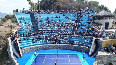 El partidito entre Thiem y Zverev desde un mirador en Acapulco