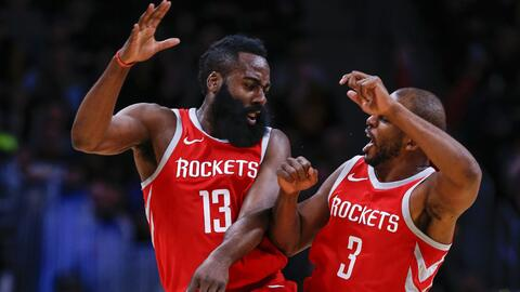James Harden anotó 41 puntos en la victoria de Houston sobre Denver.