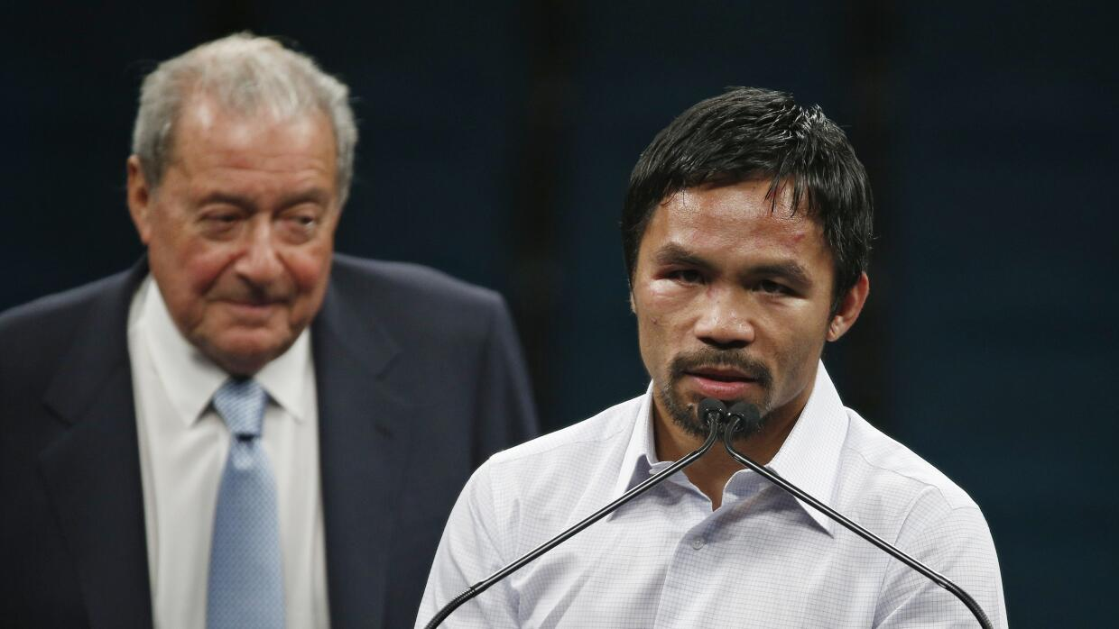 Pacquiao y Arum.
