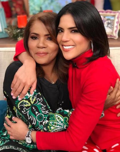 Francisca Lachapel con su mamá