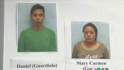María Carmen García de 27 años de edad y Daniel Guardiola Domínguez (28)...