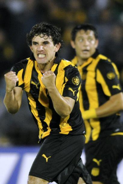 El gol de Peñarol fue anotado por Matías Corujo a los 36 m...