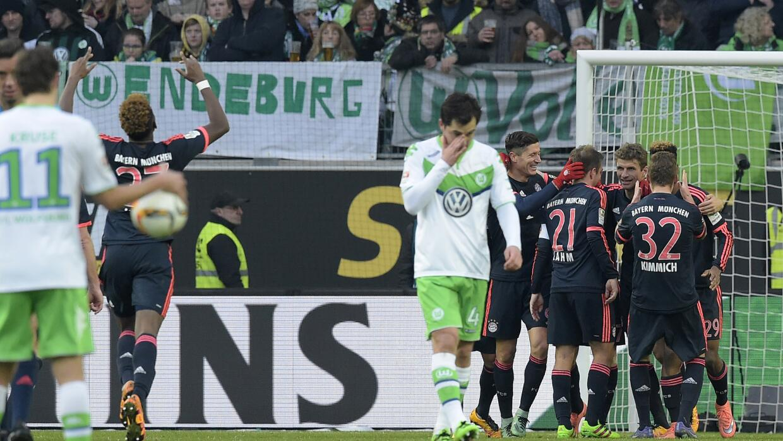 Bayern ganó en Wolfsburg