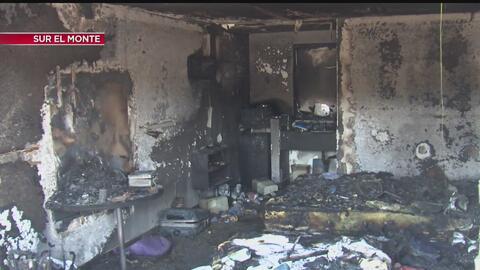 Bomberos que atendían un incendio en South El Monte encontraron un labor...