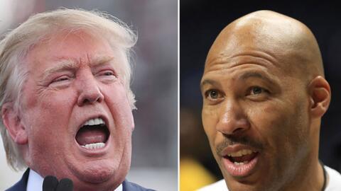 Donald Trump continúa su guerra de palabras en Twitter contra LaVar Ball.