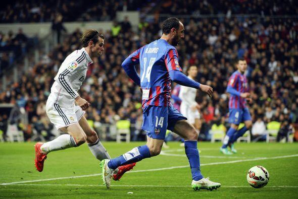 El Levante no mostró nada en el Santiago Bernabéu, y solo llegó una vez...
