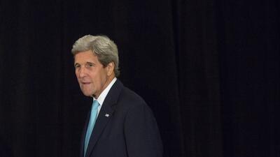 En su mensaje a los estudiantes del Miami Dade College, John Kerry desta...
