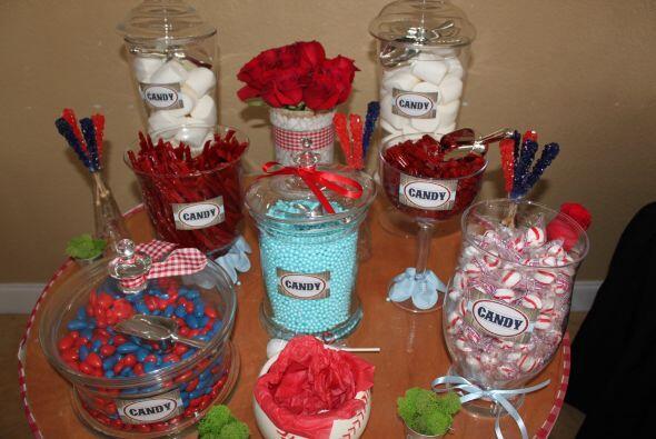 Los dulces no podían faltar para endulzar, aún más, un momento tan feliz...
