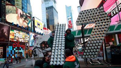 Nueva York le da la bienvenida a los números de su fiesta de Año Nuevo