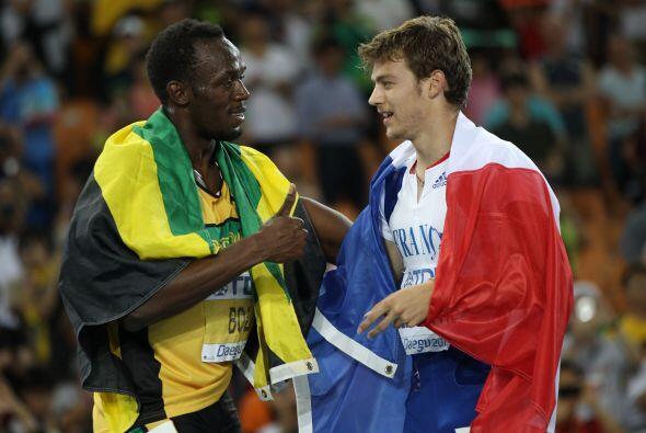 El jamaicano no logró un nuevo récord. Al final un cordial saludo entre...