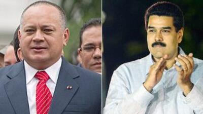 El presidente de la Asamblea Nacional, Diosdado Cabello y el vicepreside...