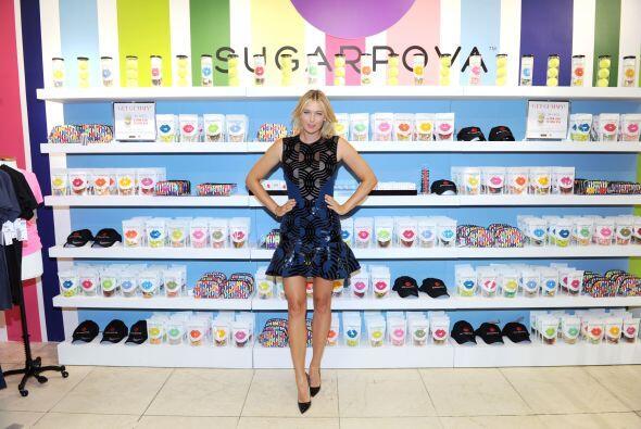 La bella María Sharapova, tercera raqueta del mundo, celebró el primer a...