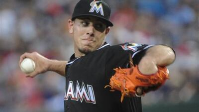 Pitcher Jose Fernandez had a dazzling fast ball in the upper 90s.