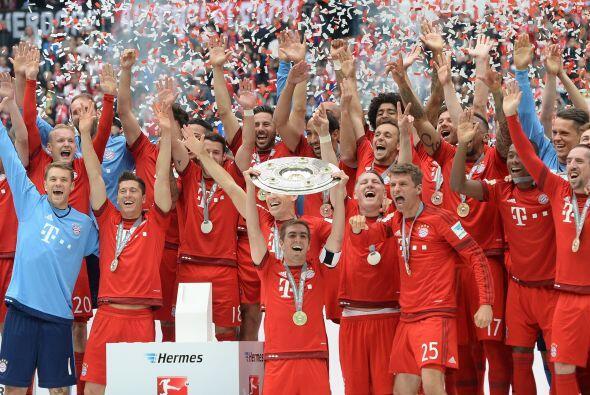 El Bayern Munich se alzó con el título de campeón en la Bundesliga de Al...
