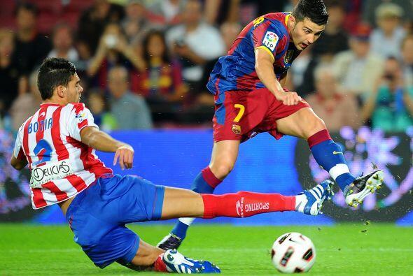 David Villa era el responsable de causar peligro en el área rival...