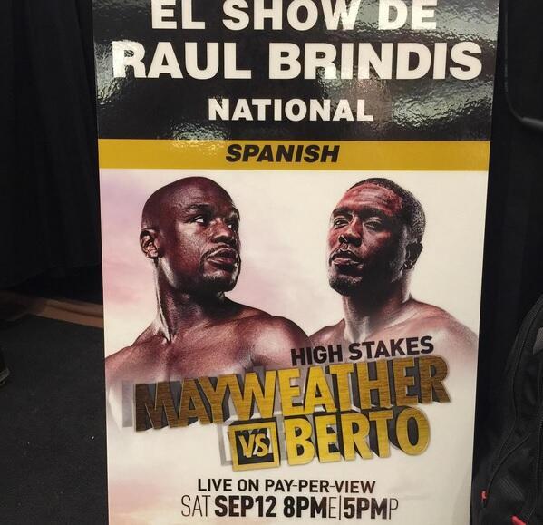 El show estuvo en la pelea de Mayweather VS Berto