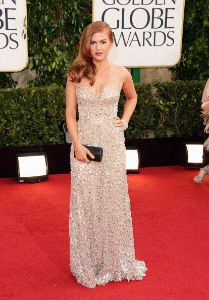 La mayoría de los vestidos de los Golden Globes de 2013 fueron en color...