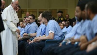 La visita del papa Francisco a una prisión en Filadelfia.