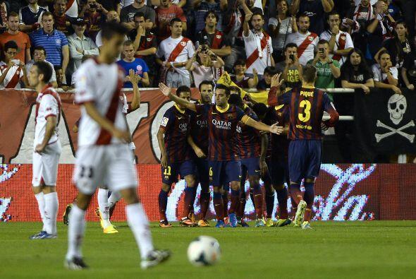 No perdonó el jugador canario del barcelona que tuvo un día inspirado.