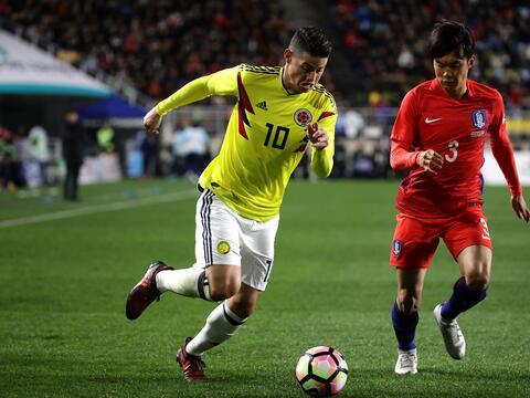 James Rodriguez jugó los 90 minutos del partido en el que Son Heu...