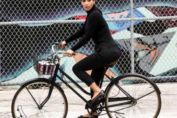 Le encantó andar en bicicleta. Más videos de Chismes aquí.