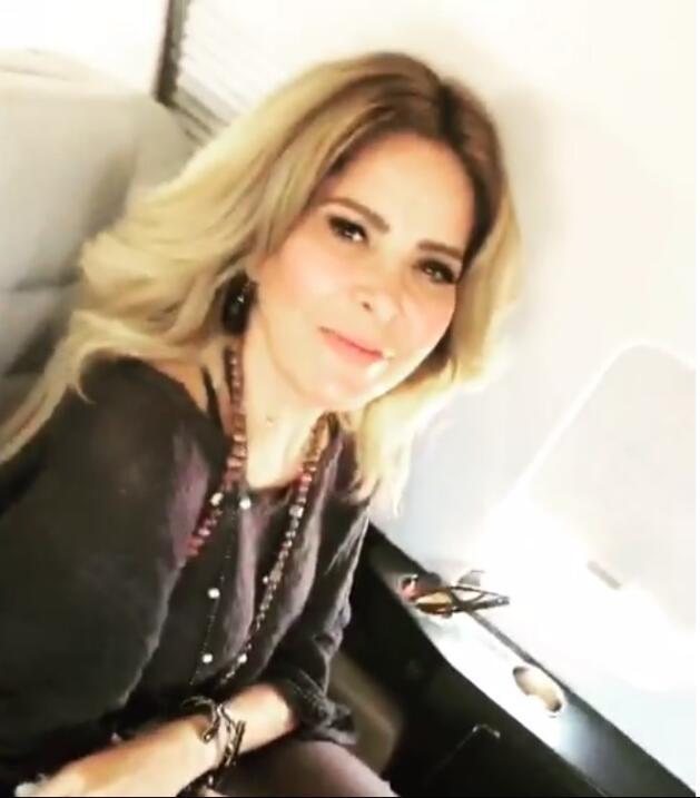 Gloria Trevi avión