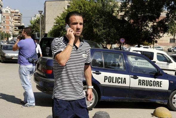 El que no se veía tan alegre era el atacante francés Mathieu Valbuena, q...