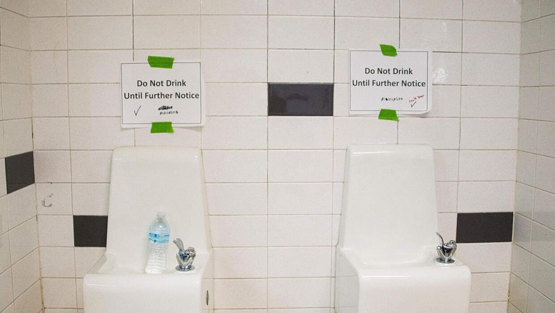 Una instalación pública en Flint, ante la crisis por la contaminación de...