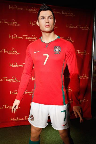 Otra estrella de las canchas, el guapo Cristiano Ronaldo. Aunque aquí no...