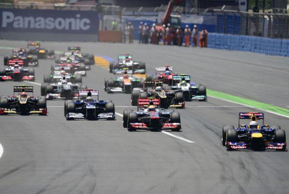 La novena competencia de la Temporada 2012 de la Fórmula 1 arrancó en Va...