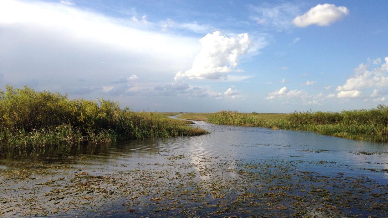 Ejemplo de un canal artificial excavado para desviar las aguas en el Sur...