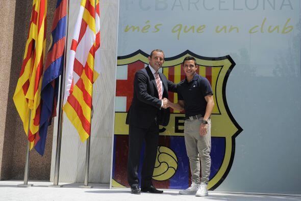 Iba a compañado por el presidente 'culé', Sandro Rosell.