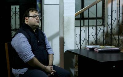 El exgobernador Javier Duarte en la estación de policía en Guatemala