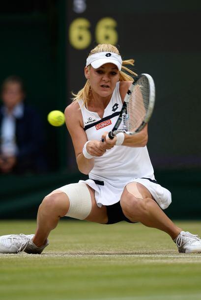 Radwanska se convirtió en la candidata mejor colocada para ganar Wimbled...