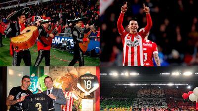 En fotos: fiesta mexicana en la goleada del PSV Eindhoven sobre el Excelsior