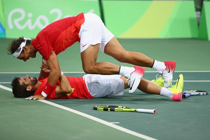 Rafa Nadal y Marc López disputarán la final de dobles masculinosen tenis...