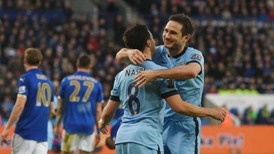 Frank Lampard anotó el único gol del partido ante el Leicester.
