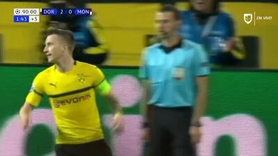 ¡GOOOL! Marco Reus anota para Borussia Dortmund
